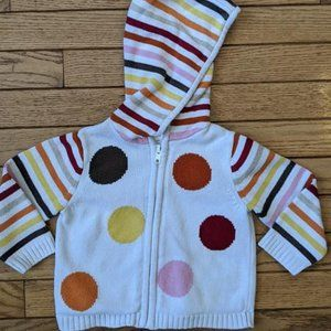 Gymboree Sweater Polka Dot Stripes Hoodie